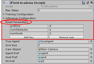 ML-Agents GridWorld GridAcademy