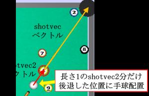ビリヤード CPU手球配置位置2