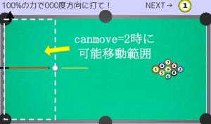 ビリヤード 手球移動可能範囲