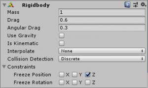 ビリヤード球rigidbody